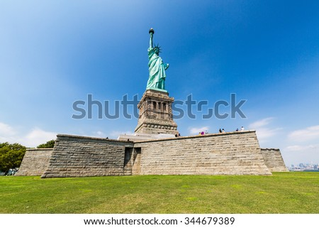 Statue liberty, New York in August 2015 - stock photo