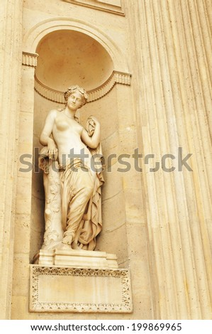 Statue of a nymph in Paris, France - stock photo