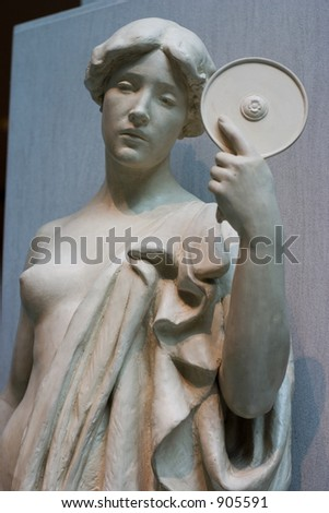 woman holding mirror. Interesting Woman Statue Of A Woman Holding Mirror With Woman Holding Mirror G