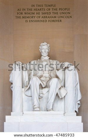 Statue of Abraham Lincoln in Washington D.C.