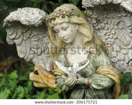 Statue of an angel - stock photo