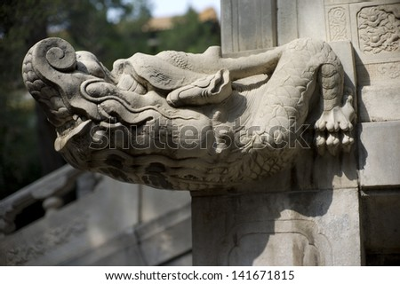 Statue of an elephant in the Forbidden City, Beijing, China.  - stock photo
