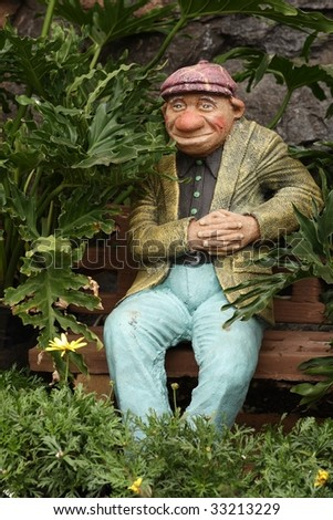 Statue of an old man for decorative purposes
