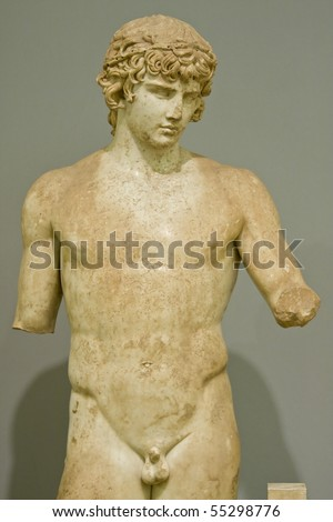 Statue of Antinoos (Antinous) - stock photo