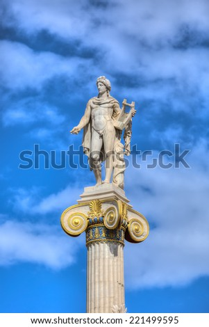 Statue of Apollo,Academy of Athens,Greece  - stock photo