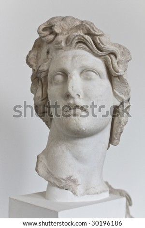 statue of Apollo Greek God of Sun - stock photo