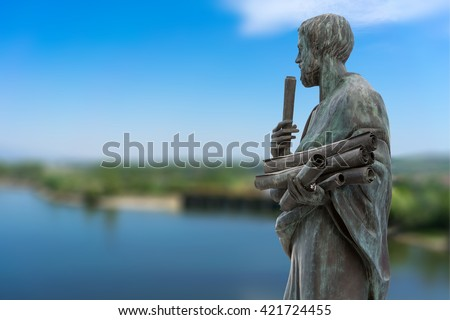 Statue of Aristotle a great greek philosopher
