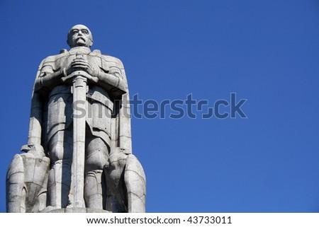 Statue of Bismarck, Hamburg, Germany - stock photo