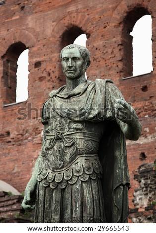 Statue of Caesar - stock photo