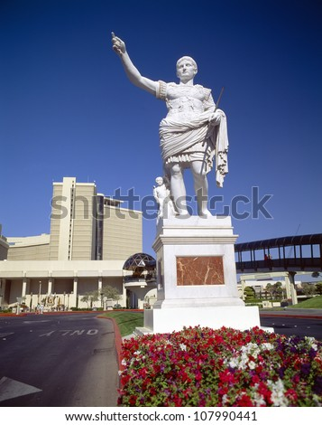Statue of Caesar, Caesars Palace, Las Vegas, Nevada - stock photo
