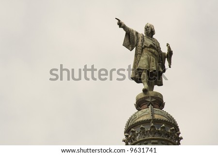 Statue of Christopher Columbus 2 - stock photo