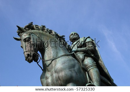 Statue of Cosimo Medici - stock photo