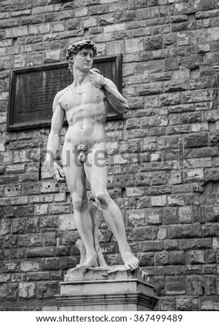 statue of David - stock photo