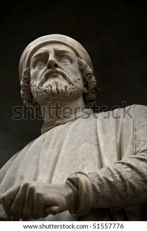 Statue of Donatello. Statue outside the  Uffizi, Florence - stock photo