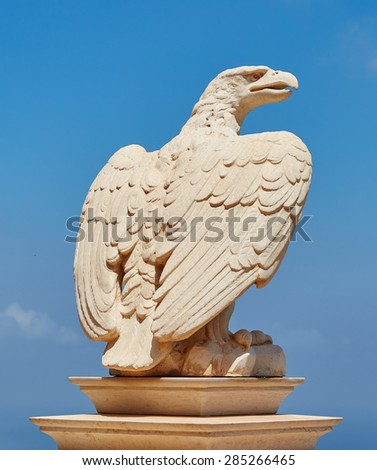 Statue of eagle - stock photo
