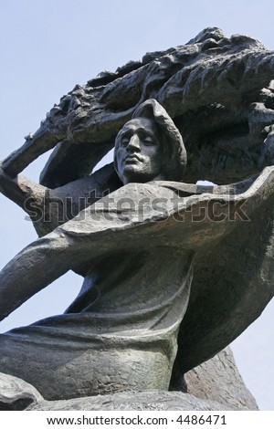 Statue of Frederic Chopin in the Lazienki Park in Warsaw, Poland - stock photo