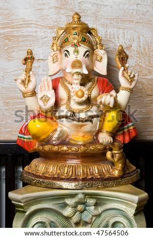 Statue of Ganesha - stock photo