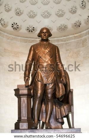 Statue of George Washington in Washington Masonic National Memorial - stock photo