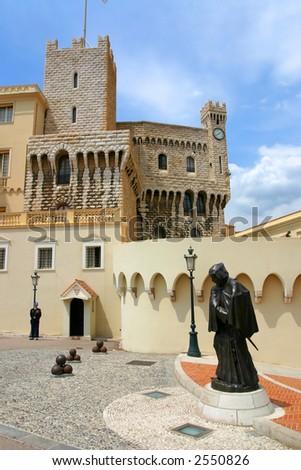 Statue of Grimaldi, Montecarlo Prince's Palace - stock photo
