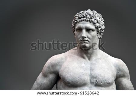 Statue of Hercules - stock photo