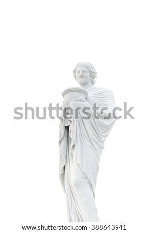 statue of Hestia(Vesta) - stock photo
