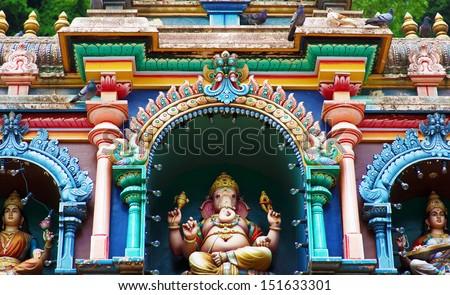 Statue of Hindu God in Batu caves Indian Temple, Kuala Lumpur, Malaysia - stock photo