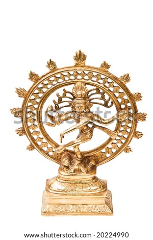 Statue of indian hindu god Shiva Nataraja - Lord of Dance isolated on white