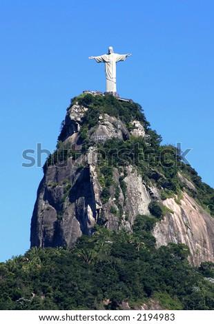 Statue of Jesus in Rio de Janeiro, Brazil - stock photo