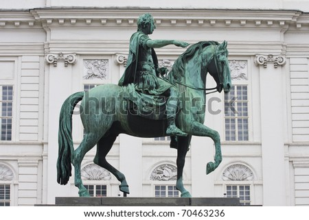 Statue of Josef II on Josefplatz square, in the Hofburg, Vienna, Austria.