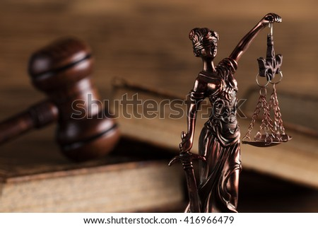 statue of justice, law theme - stock photo