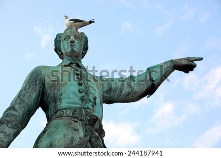 Statue of Karl XII king of Sweden in stockholm. Sweden. - stock photo