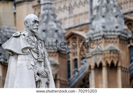 Statue of King George V - stock photo