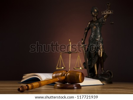 Statue of lady justice - stock photo