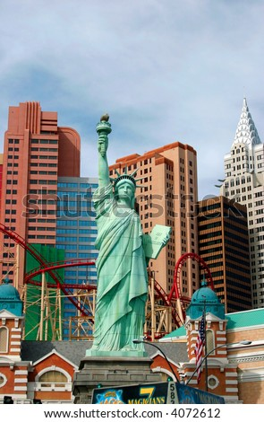 Statue of liberty at New York hotel, Las Vegas, Nevada, USA - stock photo