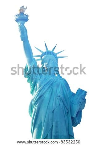 Statue of liberty closeup - stock photo