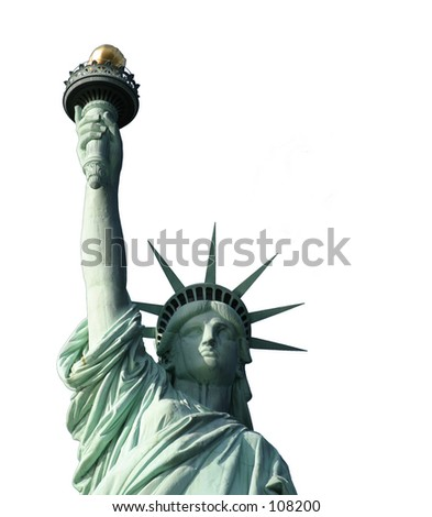 Statue of Liberty for use with adverts. - stock photo