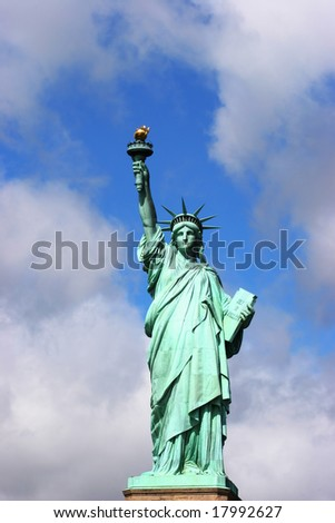 Statue of liberty front view - stock photo
