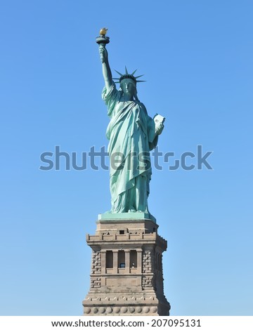 STATUE OF LIBERTY illustration - stock photo