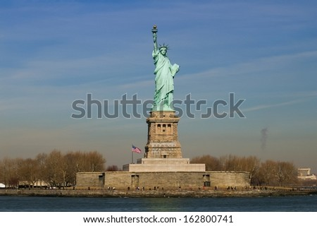 Statue of Liberty in Liberty Island, New York-USA - stock photo
