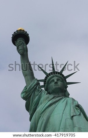Statue of Liberty in New York City - stock photo