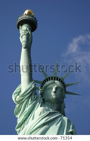 Statue of Liberty in New York City -1 - stock photo