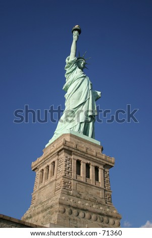 Statue of Liberty in New York City -7 - stock photo