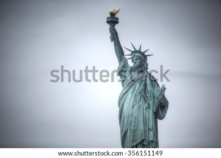Statue of Liberty in New York City. USA