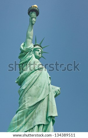 Statue of Liberty in New York, USA - stock photo