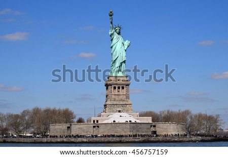 Statue of Liberty (Liberty Enlightening the World) on Liberty Island in New York Harbor