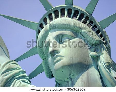 Statue of Liberty, Liberty Island, New York City - stock photo