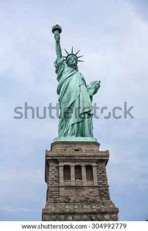 Statue of Liberty, New York, America - stock photo
