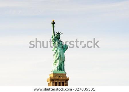 Statue of Liberty, New York city, United States of America - stock photo