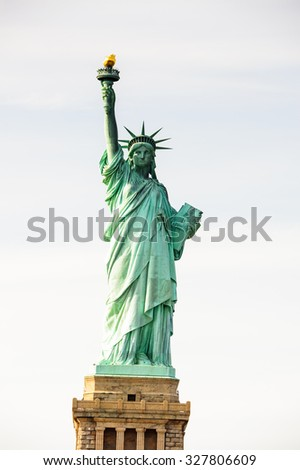 Statue of Liberty, New York city, United States of America - stock photo