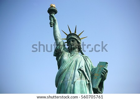 Statue of liberty of Japan,The statue of liberty in Tokyo
